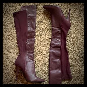 BRAND NEW HIGH KNEE HEEL BOOTS! (NVW/ NT)